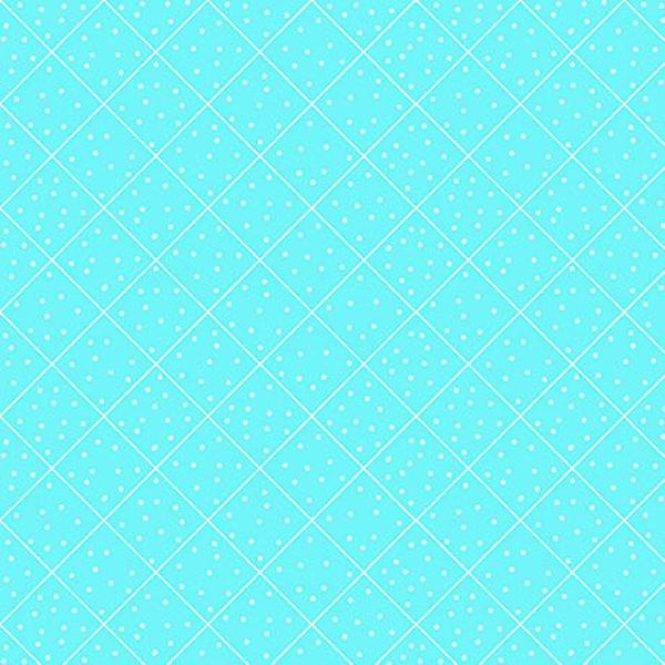 BLU Quilted Cottage Diamond Check Turquoise Fabric to sew