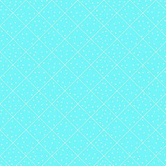 BLU Quilted Cottage Diamond Check Turquoise Fabric to sew - QuiltGirls®