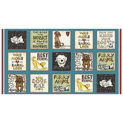 All You Need is Love and a Dog Block Panel to sew - QuiltGirls®
