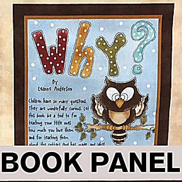 Why? Fabric Book Panel to Sew (READ FULL DESCRIPTION) - QuiltGirls®
