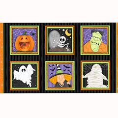 A Haunting We Will Glow Panel to sew - QuiltGirls®