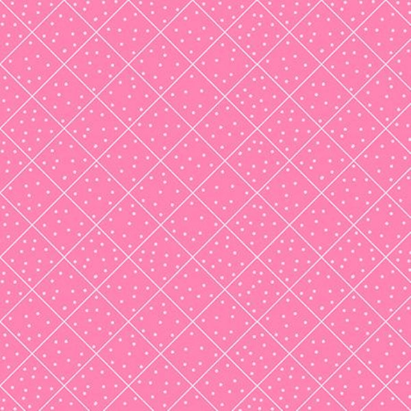 PNK Quilted Cottage Diamond Check Pink Fabric to sew - QuiltGirls®