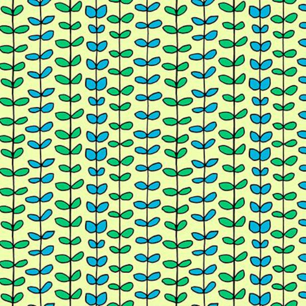 GRN House on the Hill Leaf Stripe Green Fabric to sew