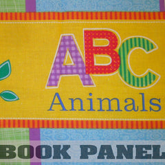 ABC Animals Fabric Book Panel to Sew - QuiltGirls®