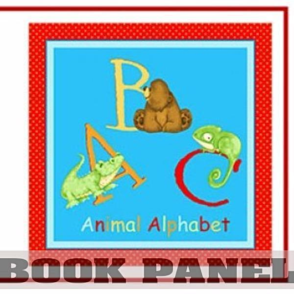 ABC Animal Alphabet Fabric Book Panel to Sew