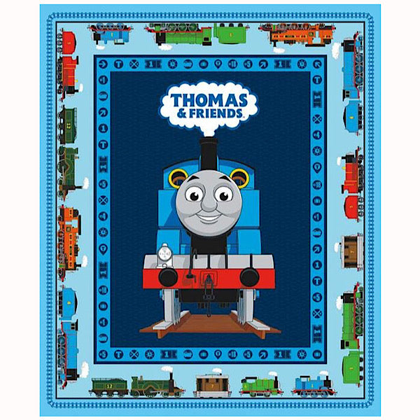Thomas and Friends Blue Quilt Panel to sew - QuiltGirls®