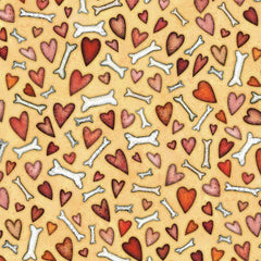 All You Need is Love and a Dog Bones and Hearts Fabric to sew