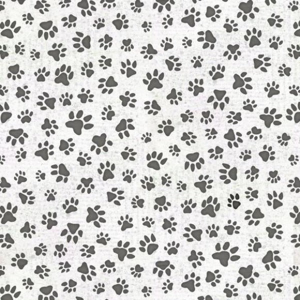 All You Need is Love and a Dog Paw Print White Fabric to sew