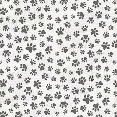 All You Need is Love and a Dog Paw Print White Fabric to sew - QuiltGirls®