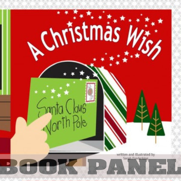 A Christmas Wish Fabric Book Panel to Sew