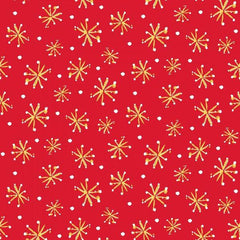 All the Trimmings Retro Stars on Red Fabric to Sew - QuiltGirls®