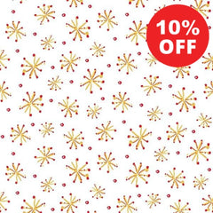 All the Trimmings Retro Stars on White Fabric to Sew - QuiltGirls®