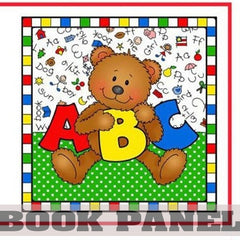 Alphabet Bears Fabric Book Panel to Sew - QuiltGirls®