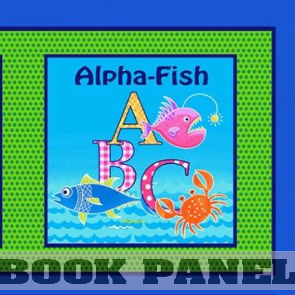 Alpha Fish Fabric Book Panel to sew