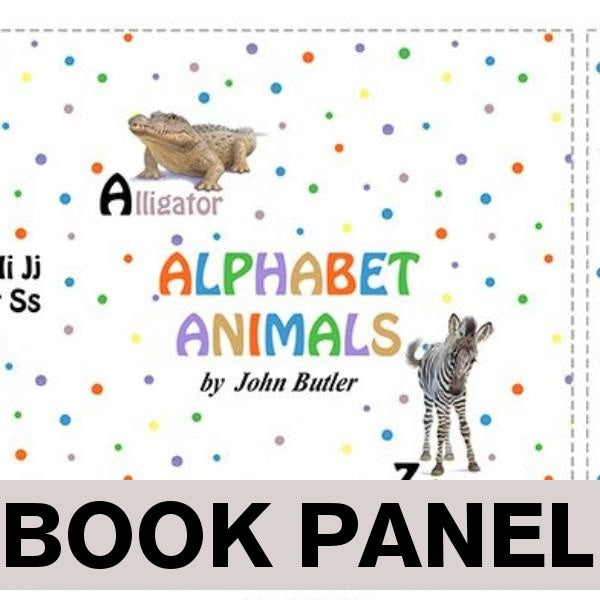John Cotton Books: Alphabet Animals Fabric Book Panel To Sew