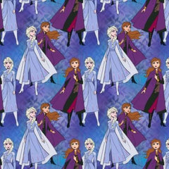 Frozen Anna and Elsa Together Fabric to Sew - QuiltGirls®
