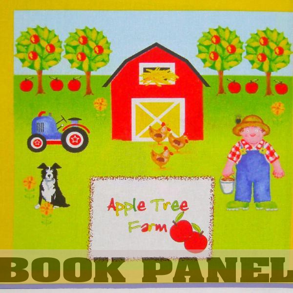 Apple Tree Farm Fabric Book Panel to Sew
