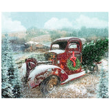 Vintage Red Truck with Christmas Wreath Panel to Sew - QuiltGirls®