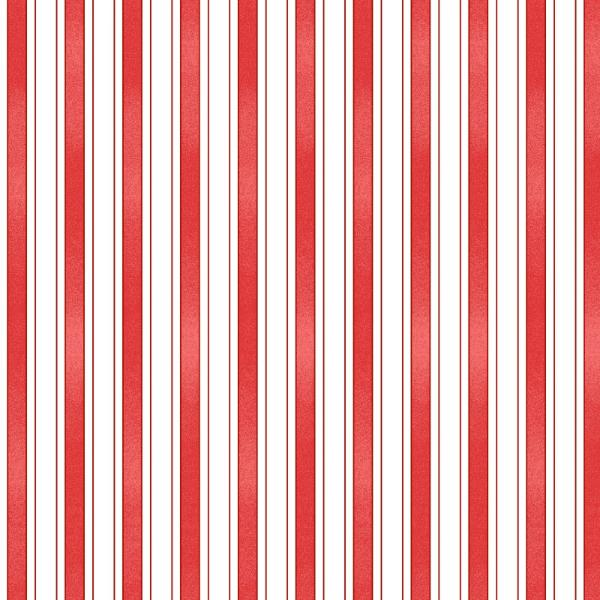 RED Back Porch Celebration Stripe Fabric to sew