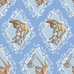 "(Remnant 18"") Bambi Blue Diamond Patch Fabric to sew - QuiltGirls®"