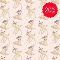 Bambi Toss on Pink Fabric to sew - QuiltGirls®