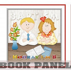 Baptism Fabric Book Panel to Sew - QuiltGirls®