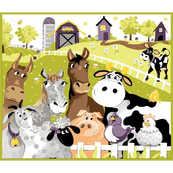 Susybee's Barnyard Buddies Play Mat Panel to sew - QuiltGirls®