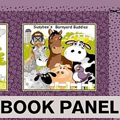 Susybee's Barnyard Buddies Fabric Book Panel to sew - QuiltGirls®