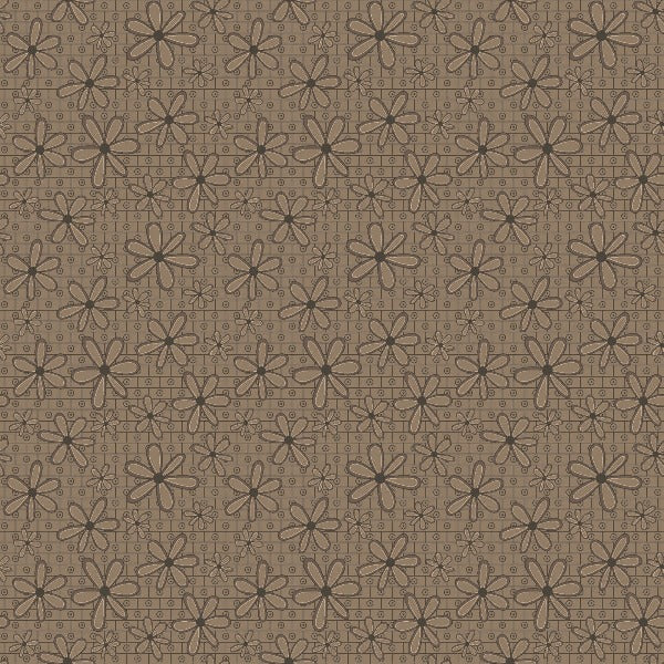 BRN Basic Hugs Brown Floral Fabric to sew - QuiltGirls®