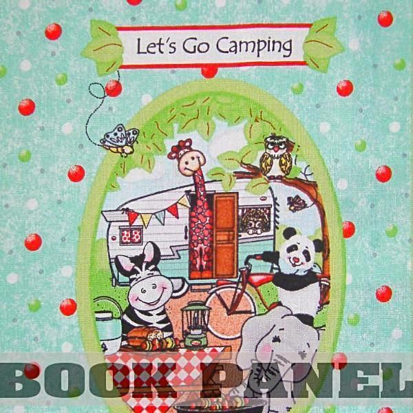 Bazooples Campout Fabric Book Panel to Sew
