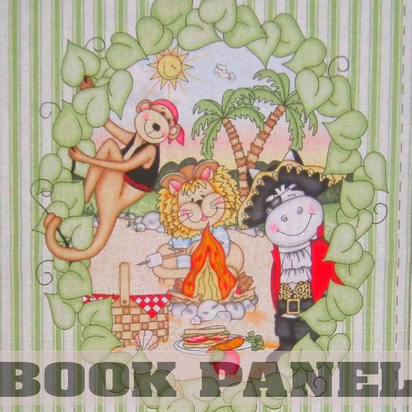 Bazooples Pirates Fabric Book Panel to Sew