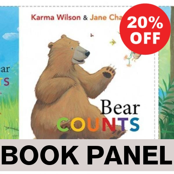 Bear Counts Fabric Book Panel to Sew