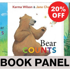 Bear Counts Fabric Book Panel to Sew - QuiltGirls®