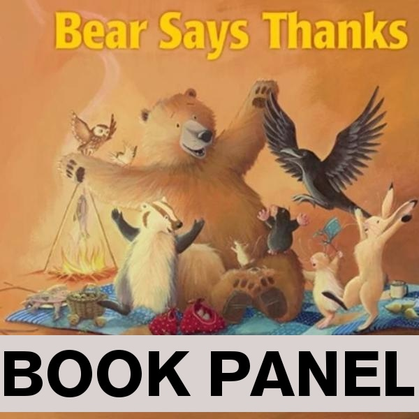 Bear Says Thanks Fabric Book Panel to Sew