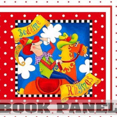 Bedtime Rhymes Fabric Book Panel to Sew - QuiltGirls®