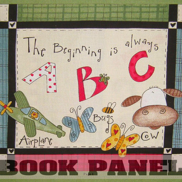 The Beginning is Always ABC Fabric Book Panel to Sew
