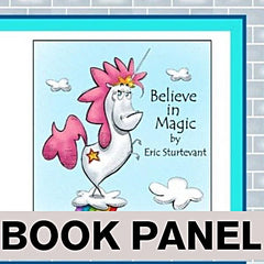 Believe in Magic Fabric Book Panel to sew - QuiltGirls®
