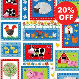 Best Friends Farm Patch Fabric to sew - QuiltGirls®