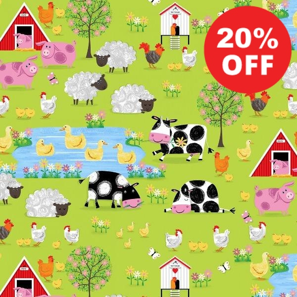 Best Friends Farm Village Fabric to sew