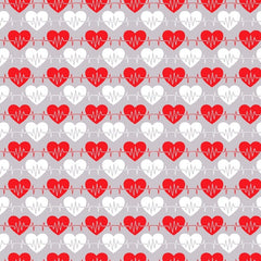"(Remnant 18"") Big Hugs Gray Heartbeat Fabric to sew - QuiltGirls®"