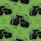 "(Remnant 18"") John Deere Big Time Tractor Fabric to sew - QuiltGirls®"