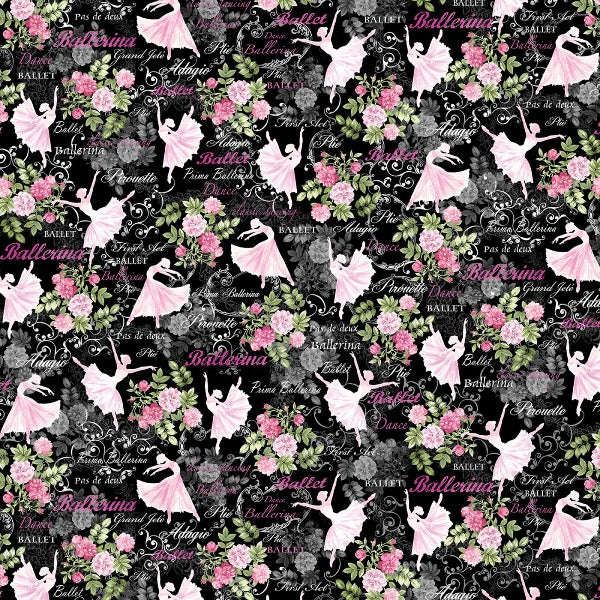 Ballet Theater Black Fabric to sew