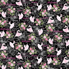 Ballet Theater Black Fabric to sew - QuiltGirls®
