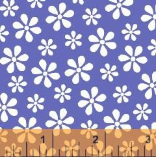 BLU Windham Basics Blue Floral Fabric to sew