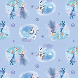 Frozen Season to Celebrate on Blue Fabric to Sew - QuiltGirls®
