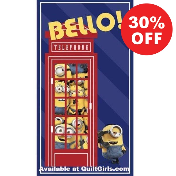 The Minions British Invasion Quilt Fabric Panel to sew