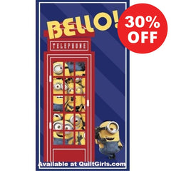 The Minions British Invasion Quilt Fabric Panel to sew - QuiltGirls®