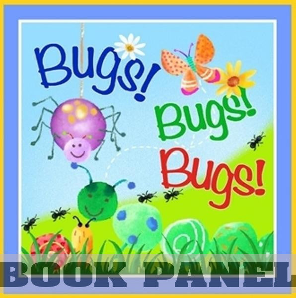 Bugs Galore Fabric Book Panel to Sew