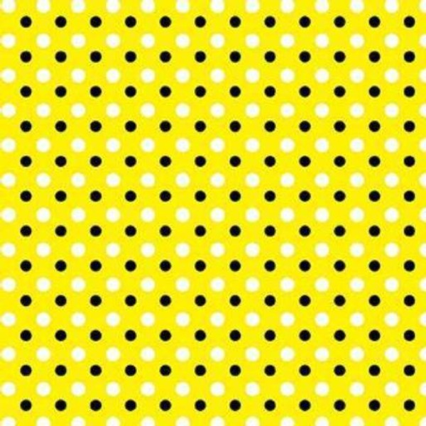 YELL Graphix Dots on Yellow Fabric to sew