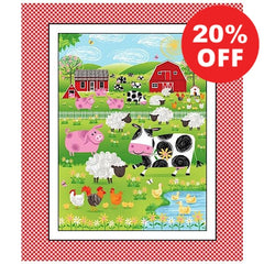 Best Friends Farm Fabric Panel to sew - QuiltGirls®